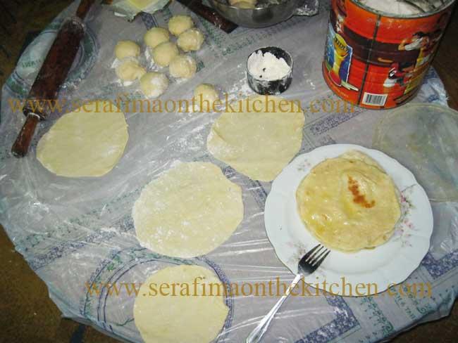 Тонкие лепешки с маслом, лепешки с сыром  Img_1714