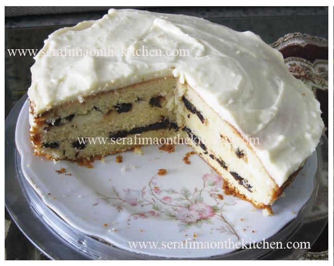 Вкусный торт  с черносливом и заварным кремом Pictu150