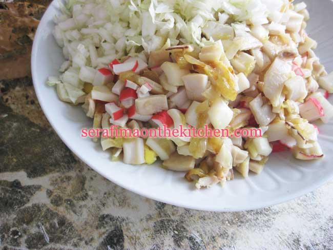 Салат с корневым сельдереем 3 (кальмары, краб.палочки, зелень) Pictur28