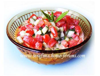 Салат острый с тхание к рыбе. Арабская кухня Salat-10