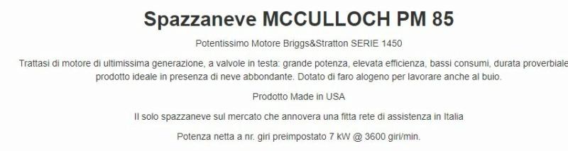 Spazzaneve McCulloch PM85 8510