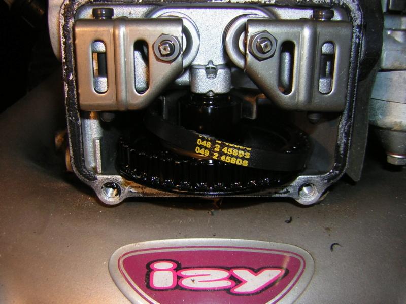 Honda GCV135: fuoriuscita cinghia distribuzione Dscn1393