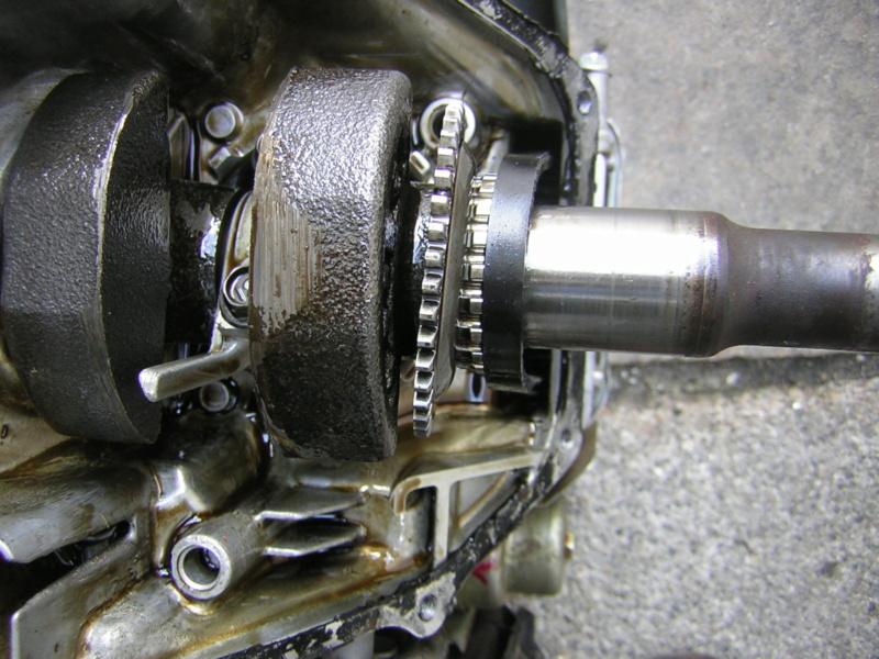 Honda GCV160: sfilamento ingranaggio regolatore centrifugo Dscn1614