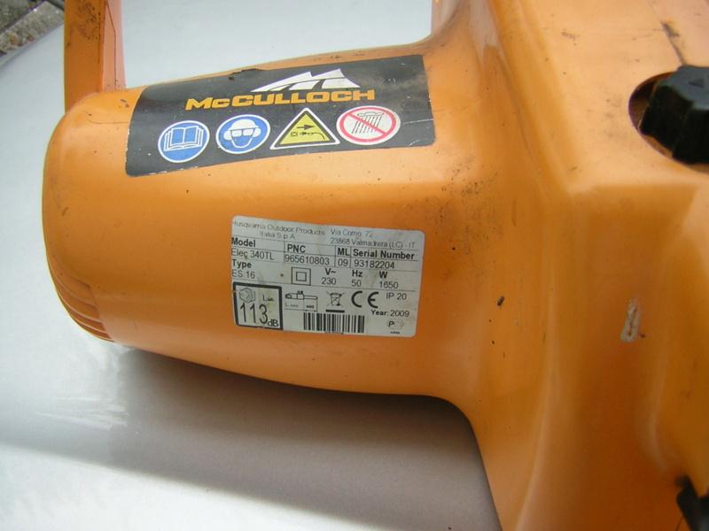 Elettrosega McCulloch Electramac 340TL Dscn1684