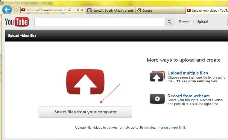 Process on uploading video's Vid210