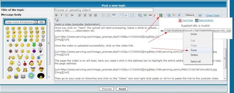 Process on uploading video's Vid710