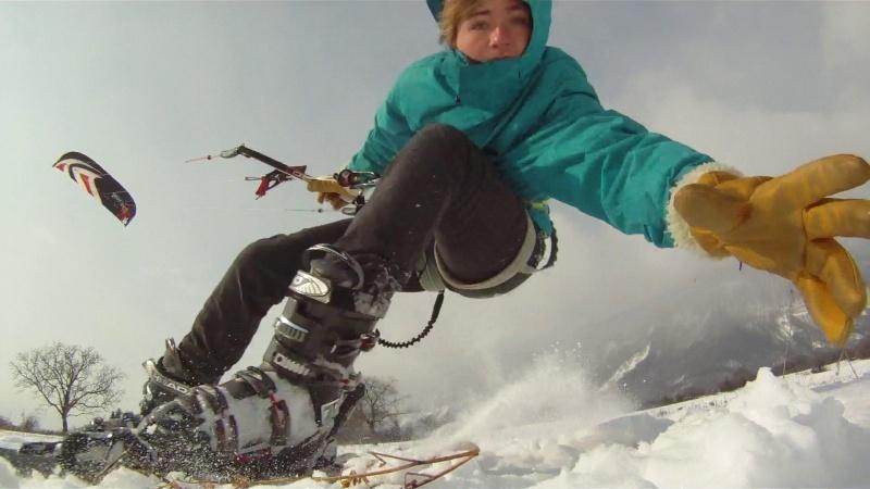 Snow kite sur le home spot Vlcsna12