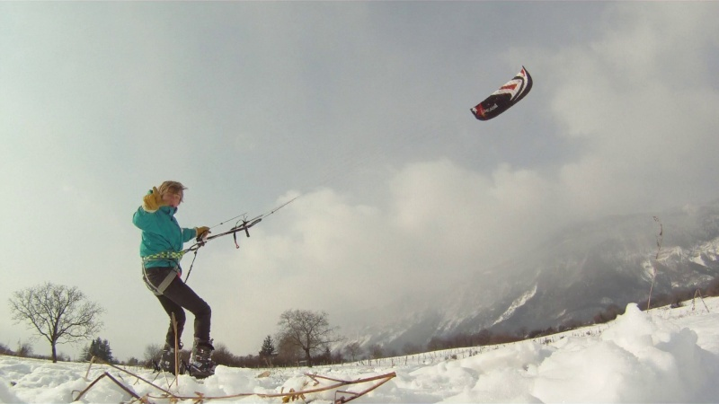 Snow kite sur le home spot Vlcsna15