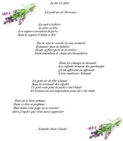 Un Petit Air De Provence Poeme De Jcl