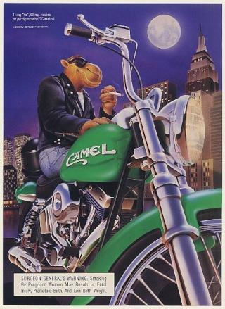 La Harley dans la pub Camelb10