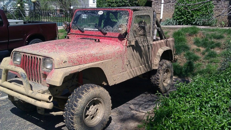 The Making of the Zombie Hunter 87 YJ Muddy10