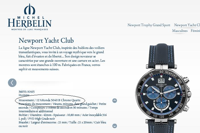 MICHEL HERBELIN automatic Newport Yacht Club Herbel10