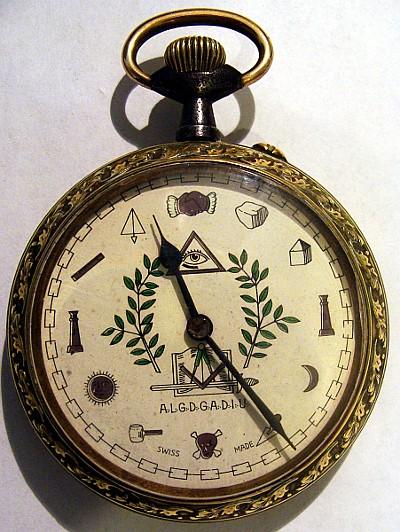 montre à gousset avec symboles maçonniques Face310