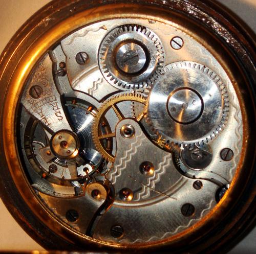 montre à gousset avec symboles maçonniques Interi10