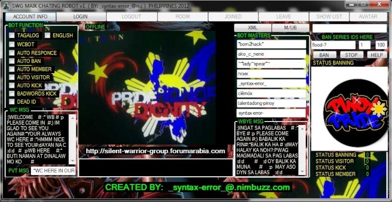 NEW!!! SWG MAIK FULL CHATING ROBOT v1 ( PHILIPPINES 2012 ) Screen11