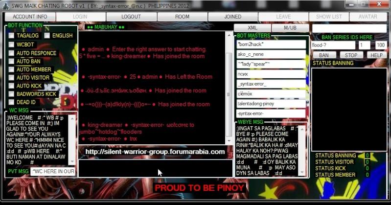 NEW!!! SWG MAIK FULL CHATING ROBOT v1 ( PHILIPPINES 2012 ) Screen14