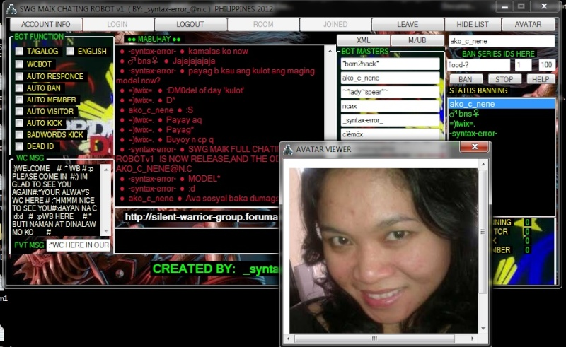 NEW!!! SWG MAIK FULL CHATING ROBOT v1 ( PHILIPPINES 2012 ) Screen18