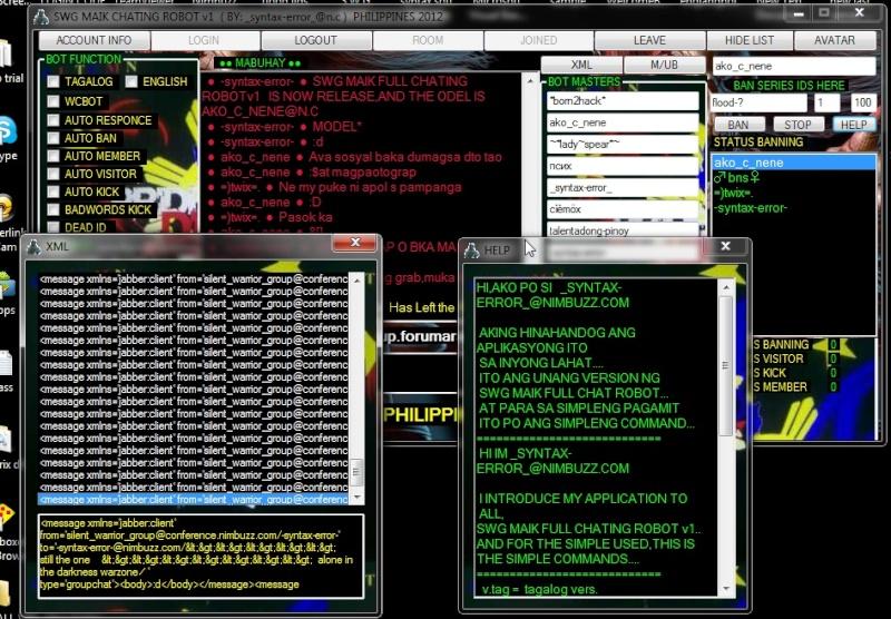 NEW!!! SWG MAIK FULL CHATING ROBOT v1 ( PHILIPPINES 2012 ) Screen20