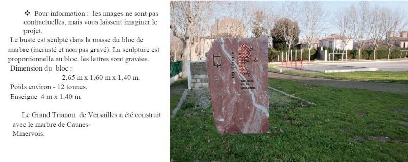 commémoration de cet anniversaire en soutenant le projet d'édification d'une stèle à la mémoire du général Bigeard, le 22 juillet 1962, le 3ème RPIMa, faisait pour la première fois son entrée à Carcassonne Bigear10