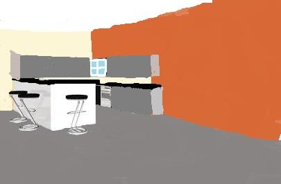 pièce à vivre: couleur posée... On attend la cuisine! Cuisin10