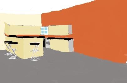 pièce à vivre: couleur posée... On attend la cuisine! Cuisin11