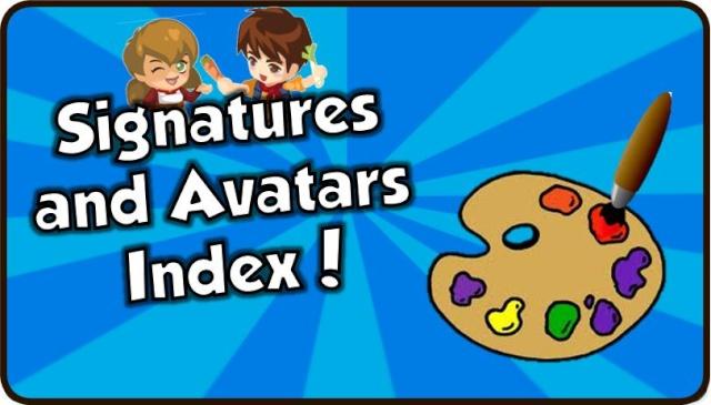 Signatures and Avatars Index Siggy11