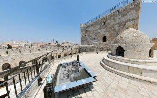 Dach des Pentagon mit dem Modell von Jerusalem / Westernwall-Klagemauer 40126910