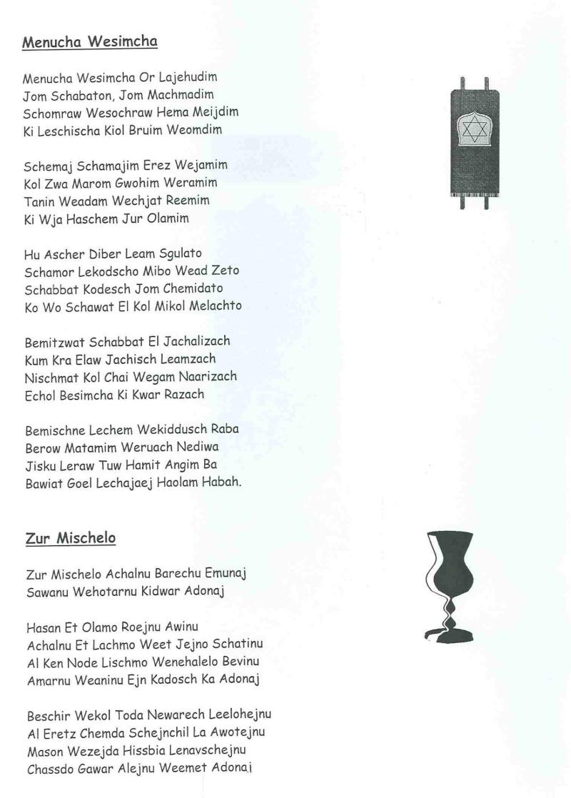 SHABBAT Feier bei Christen Schisc14