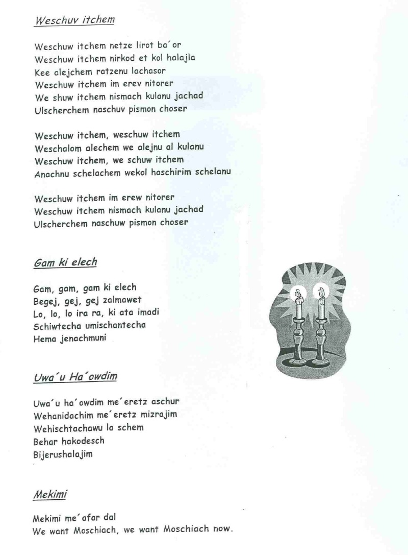 SHABBAT Feier bei Christen Schisc19