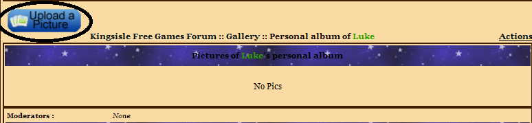 Guide to uploading pictures in the Gallery Galler14