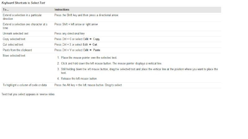 SAS Enhanced Editor Shortcut Keys Test11
