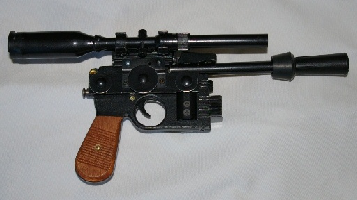 "Heavy Blaster DL-44 ""home made"" pour mini Han Solo 3710"