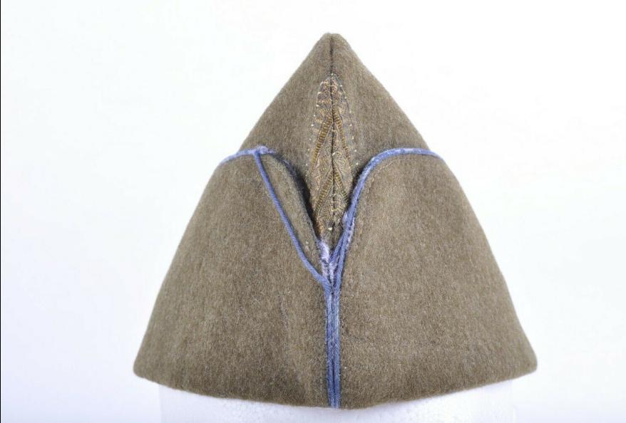 Bonnet de police passepoil bleu ciel  Bdppas10