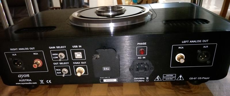 Ayon CD-07 tube CD player Back10