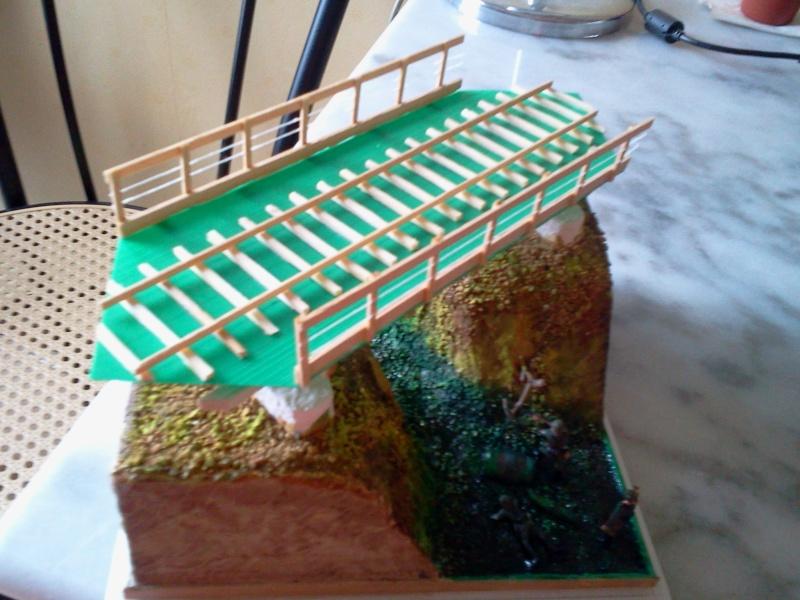 petit pont ferroviaire au 1/72.realisé en scratch integral. 2012-142