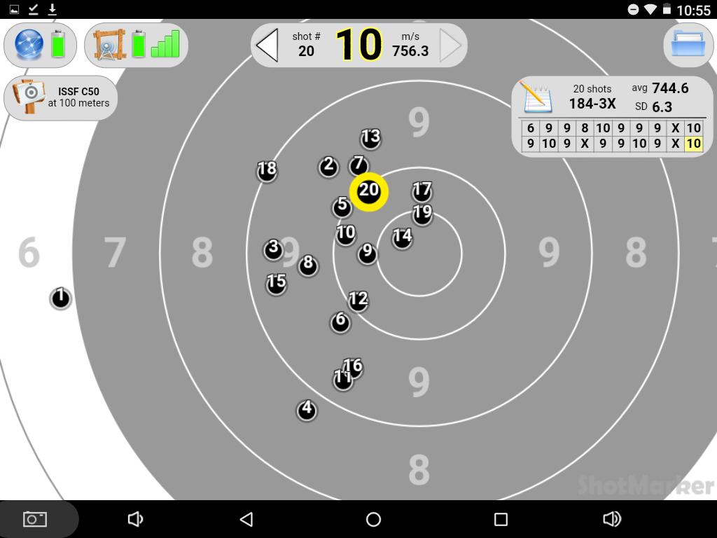 shotmarker : ciblerie électronique Screen11