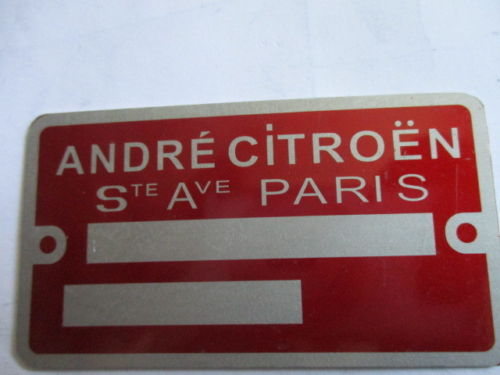 plaque citroen ....amateur Cit-av10