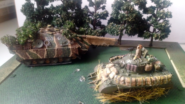 Photo souvenir -- M5A1 Stuart , SdKfz 173 Jagpanther & Panther  07-06-11