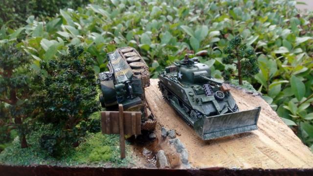 ITALIE  1944 - Tigre & Sherman  au 1/72ème 07-09-11