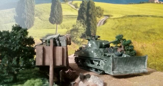 ITALIE  1944 - Tigre & Sherman  au 1/72ème 07-09-14