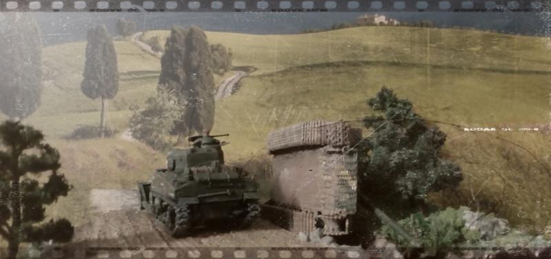ITALIE  1944 - Tigre & Sherman  au 1/72ème 07-09-16