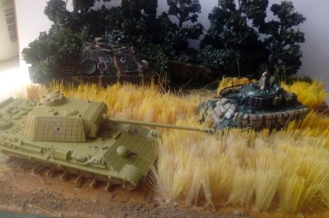 Photo souvenir -- M5A1 Stuart , SdKfz 173 Jagpanther & Panther  18-06-13