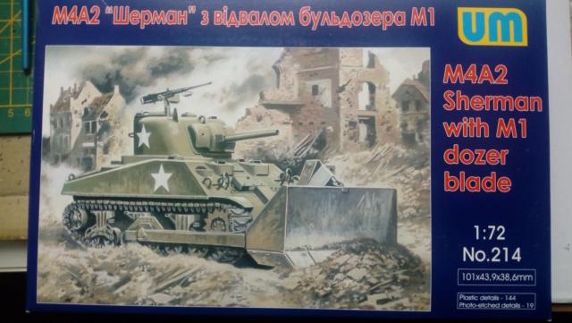 M4A2 Sherman with M1 dozer blade -- UM --  1/72  20-08-10