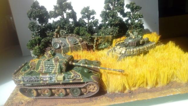 Photo souvenir -- M5A1 Stuart , SdKfz 173 Jagpanther & Panther  23-06-11