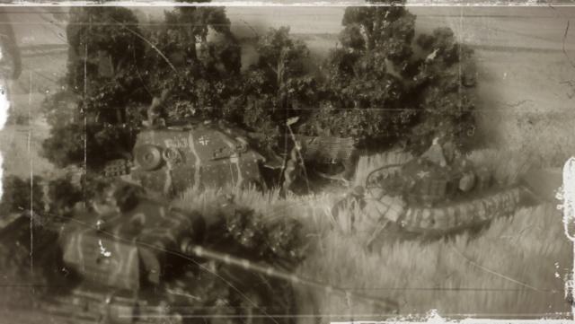 Photo souvenir -- M5A1 Stuart , SdKfz 173 Jagpanther & Panther  Epoque10