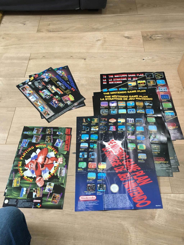 Publicités Nintendo, posters, pad 8BitDo SFC30 - POP Megaman, Star Wars... Img_7216