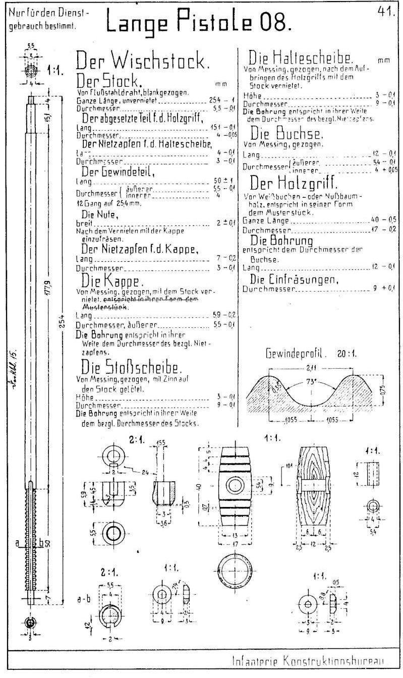 Luger LP 08 DWM 1917 étui et accessoires  7e46a510