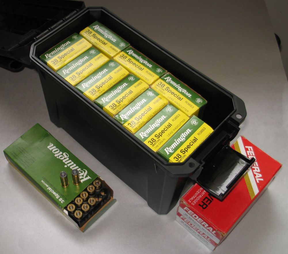 SOLD: Factory Rem 38 Spl 148 HBWC ammo - 1980's/90's vintage ***SOLD 38_hbw10