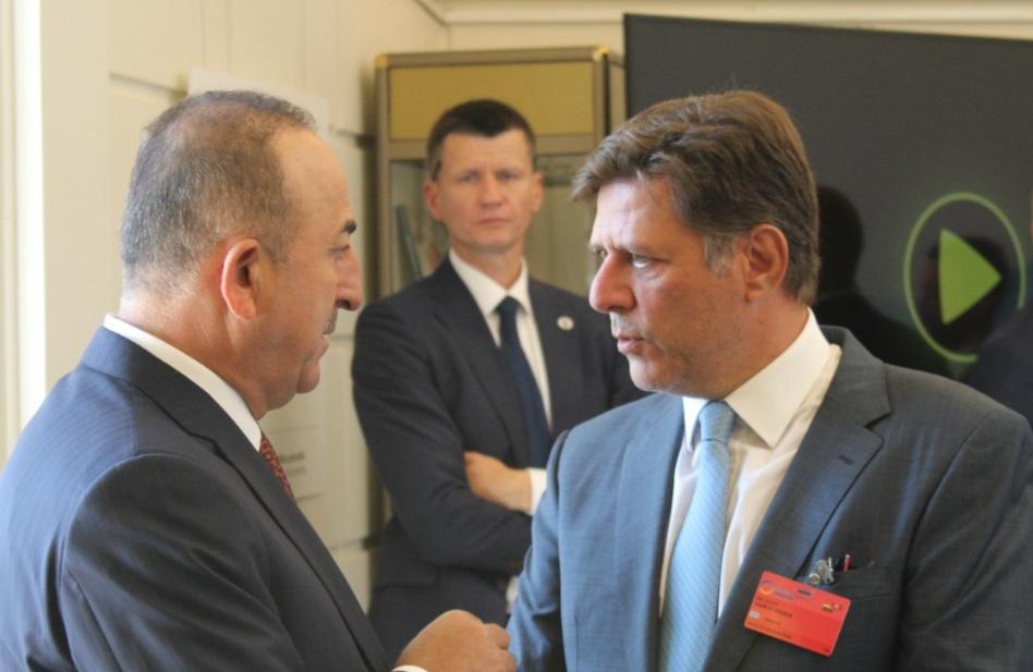 ΔΤ - Σημεία παρέμβασης του Αναπληρωτή Υπουργού Εξωτερικών Μιλτιάδη Βαρβιτσιώτη στην 4η Διεθνή Διάσκεψη για την Ουκρανία - Συνομιλία με Τούρκο Υπουργό Εξωτερικών Μεβλούτ Τσαβούσογλου (Βίλνιους, 7 Ιουλίου 2021) - Φωτογραφίες και βίντεο Photo210