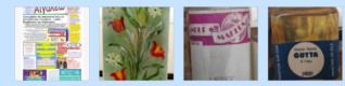 Εφημερίδα Αιγάλεω, πίνακας ζωγραφικής τής Μαρίας Καφετζή, υλικά μπατίκ, χρώμα κιμωλίας Scree151